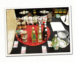 Sampling Table with Products